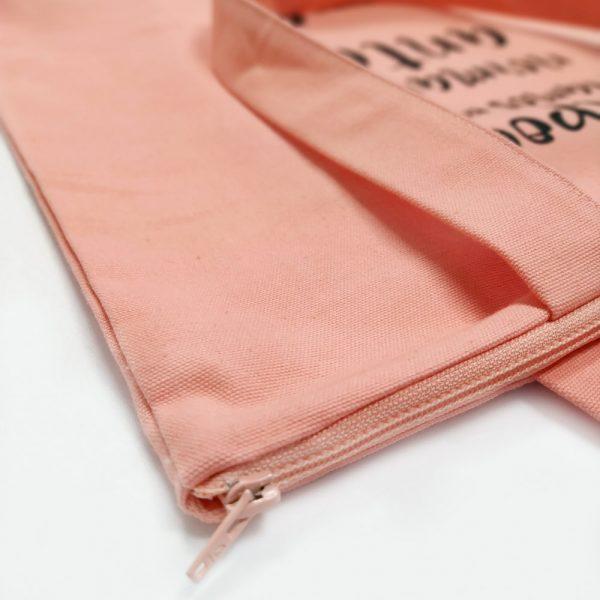 bag rosa con cremallera